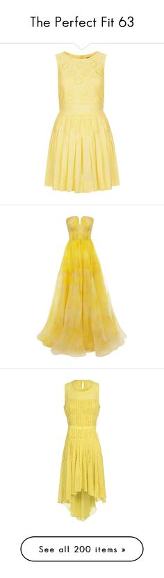 Pale yellow dress polyvore clothing