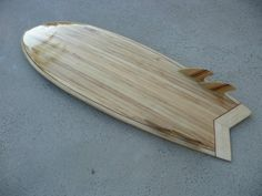 """Fast Lucy"" hollow wood kit designed by Brad Tucker from Tucker Surf Supply-- http://www.tuckersurfsupply.com/"