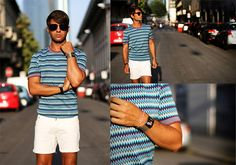There's something so fresh about white shorts on a man~ MISSONI (by Filippo F.)