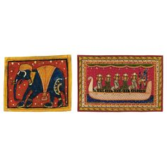 TWO FOLK PAINTINGS FROM ORISSA, 20TH CENTURY