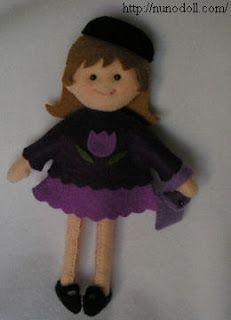 Mimin Dolls: bonequinhos de feltro nunodoll