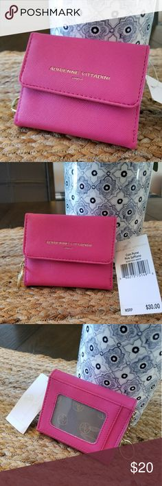 NWT Adrienne Vittadini Coin Purse NWT Adrienne Vittadini Coin Purse in Color Pink Saffiano! Adorable Gold Accents Perfect for Spring/Summer!! 👜 Measure 4.25in W x 3in H Adrienne Vittadini Bags