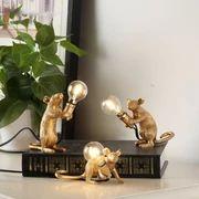 Home Decor Desk Light Nordic Resin Animal Rat Mouse Table Lamp Desk Light, Light Table, Lamp Light, Light Bulb, Cute Night Lights, Led Night Light, Bedside Lamps Led, Led Lamp, Home Deco