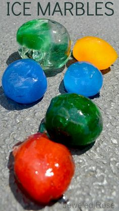 10 FUN Ways to play with ice marbles this Summer- Science, art, fun games, and MORE! Ice marbles are easy to make and such a fun way to beat the heat!