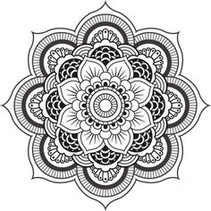 mandala, flowers, and art image