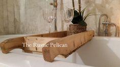 Rustic Bathtub Tray  Bathtub Tray  Reclaimed wood Bath Tray