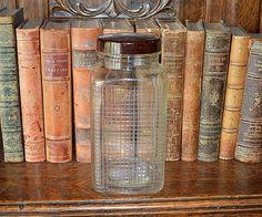 Vintage French Glass Storage Jar with Bakelite Lid
