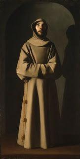 "Francisco de Zurbarán (1598–1664, Spain), Saint Francis, ca. 1640–1645. Oil on canvas,81 1/2"" x 42"" (207 x 106.7 cm). © Museum of Fine Arts, Boston (MFAB-104)"