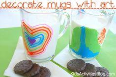 Sharpie on a Mug: Kids Art {Dishwasher Safe!}