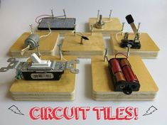 Circuit Tiles Explore Basic Electrical Components and Concepts | Instructables #Electricity #MAKE #DIY