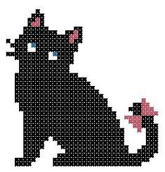 cat - cross stitching pattern/also could be used as a perler pattern Cat Cross Stitches, Cross Stitch Charts, Cross Stitch Designs, Cross Stitching, Cross Stitch Embroidery, Cross Stitch Patterns, Crochet Cross, Cross Stitch Animals, Tapestry Crochet