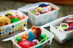 toys for on the go using old wipe containers
