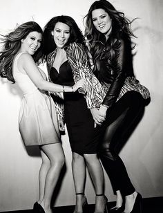 Kardashian sisters! They are annoying at times... but I can't help but to love their STYLE! #GLAM