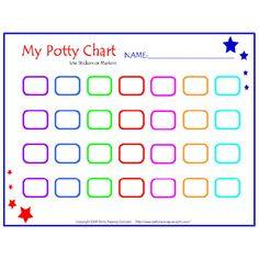 Potty Training Chart Blank