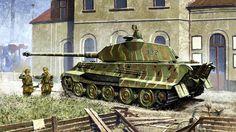 Tiger II con torre Porsche e zimmerit. 3/s.Pz.Abt. 503, Mailly le Camp, 1944