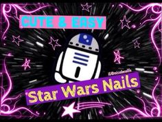 STAR WARS NAILS | CUTE EASY NAIL ART - http://47beauty.com/nails/index.php/nail-art-designs-products/  Very cute and easy Star Wars inspired nails. Items Used: Base coat – Kit Laquer Sinful colors – Endless Blue Nina Ultra Pro – French White Opi – my voice is a little Norse Essence – give me nude, baby! Finger Paints Striper – hip hip hue-ray! SallyHansen instadry – clearly quick Nail Art Rhinestones – red and clear Toothpick Na