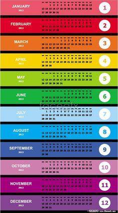 Colorful calendar template vector
