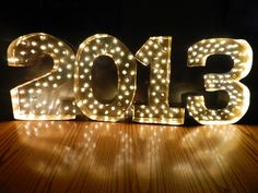 DIY Marquee Letters for the New Year!   The Oaks Events