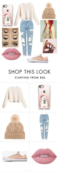 """Getting in the winter mood!!!"" by mariana-93 ❤ liked on Polyvore featuring beauty, Casetify, Loro Piana, Topshop and Lime Crime"