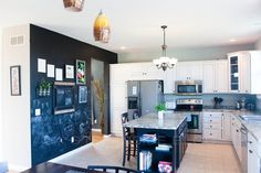 #DIY Kitchen Before & After   A Step Inside  Chalkboard wall