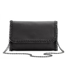 R&R Leather Whip-Stitch Leather Crossbody Bag, Women's, Black