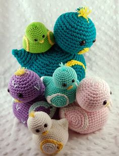 1 modèle, 3 canetons au crochet en fils Natura, Natura Medium et Natura XL DMC - Crédit Photo Petits Modèles