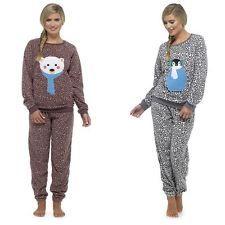 e0b0dce347 Ladies pyjamas pajama twosie fleece nightwear sleepwear for young ladies  Fleece Pajamas