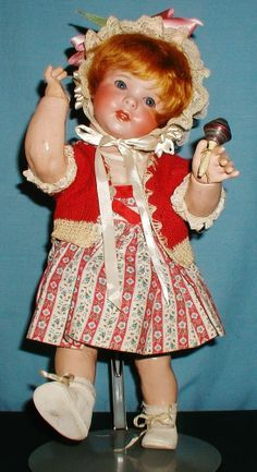 """OUTSTANDING Adorable Chubby HTF 16"""" SFBJ 247 Toddler Twirp w/Antique Rattle  LR"""