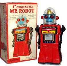 Cragstan MR Robot TIN TOY Japan Vintage 1950'S With Original BOX | eBay