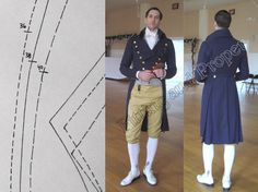 1795-1810 Mens Regency coat pattern, theatrical sewing pattern for mens costume. $25.00, via Etsy.