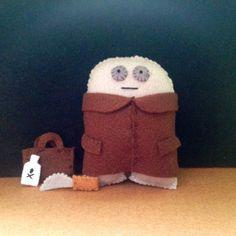 Uncle  Felt handmade Monster  Halloween gift by MonsterDen on Etsy, £10.50