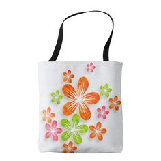 Bright Fun Flowers (2) - All Options Tote Bag