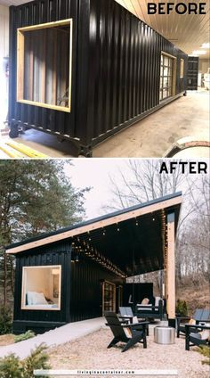 Building A Container Home, Container House Plans, Container House Design, Tiny House Design, Container Buildings, Storage Container Homes, Tiny House Cabin, Tiny House Living, Small House Plans