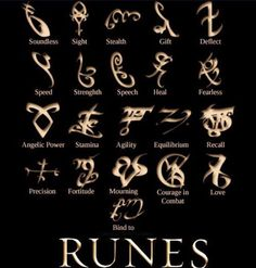 The Mortal Instruments: City of Bones | Book Series by Cassandra Clare | runes - brie