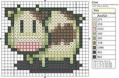 Harvest Moon Cow - by Makibird-Stitching - cross stitch pattern