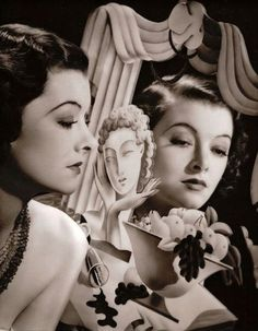 Old Hollywood glamour, mirror mirror Myrna Loy Old Hollywood Glamour, Golden Age Of Hollywood, Vintage Glamour, Vintage Hollywood, Vintage Beauty, Classic Hollywood, Vintage Fashion, 1940's Fashion, Myrna Loy