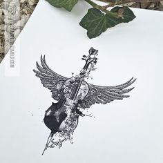Apocalyptica inspired violin thigh tattoo design (design for @taniaotoya)