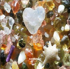 What ocean sand looks like - magnified 250 times
