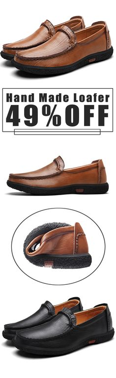 49%OFF&Free shipping. Men's Shoes, Hand Made Loafer, Slip On Leather Loafers, Soft Sole. Color: Black, Brown. Shop now~