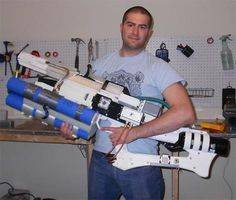 Working rail-gun rifle produced with a 3-d printer.