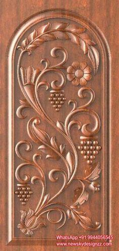 Wonderful Wood Carving Designs In Doors Photos - - Wonderful W. Single Door Design, Wooden Front Door Design, Double Door Design, Main Door Design Photos, Door Design Images, Pooja Room Door Design, Door Design Interior, Interior Doors, Wood Carving Designs