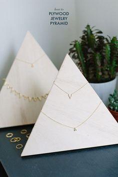 Plywood jewelry storage