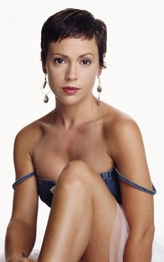 Alyssa milano unbuttoning her blouse nude think, that