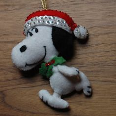 Snoopy felt ornament