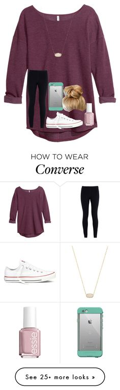 """""""Everyone RTD please!!"""" by shenry2016 on Polyvore featuring H&M, NIKE, Converse, Kendra Scott, LifeProof and Essie"""