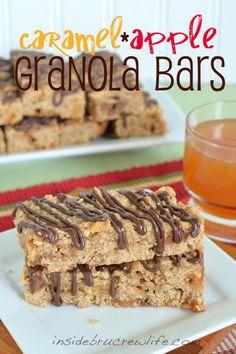 Caramel apple oatmeal bars