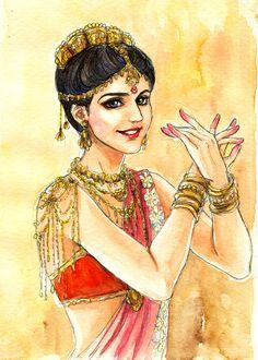 Fanart of Mohini,Devon Ke Dev Mahadev,by. Indian Women Painting, Indian Art Paintings, Ship Paintings, Krishna Painting, Krishna Art, Radhe Krishna, Art Sketches, Art Drawings, Indian Illustration