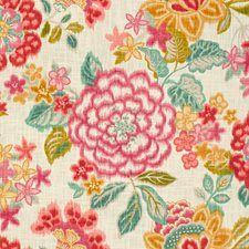 White/Pink/Yellow Print Decorator Fabric by Kravet
