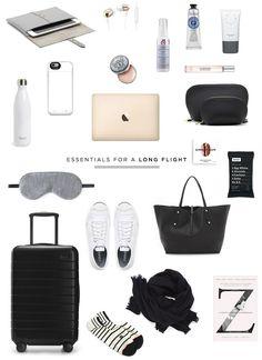 danielle moss travel essentials for a long flight