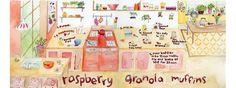 Raspberry Granola Muffins by Charrow Charrow